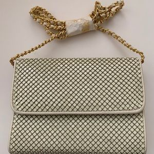 New Vintage beaded ivory clutch / crossbody